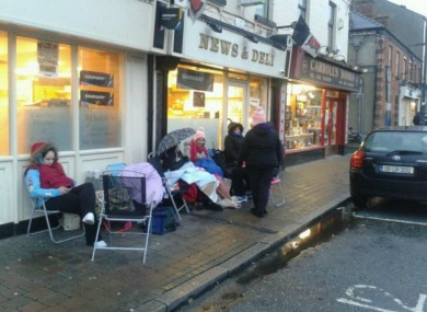 The queue in Dundalk last week.