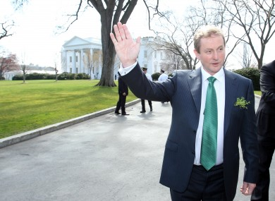 Enda Kenny at the White House in 2011 during a St Patrick's Day visit to the US