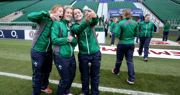 Twickenham selfie! Ireland's women get set for England challenge