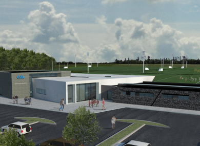 A projected image of the new facility.