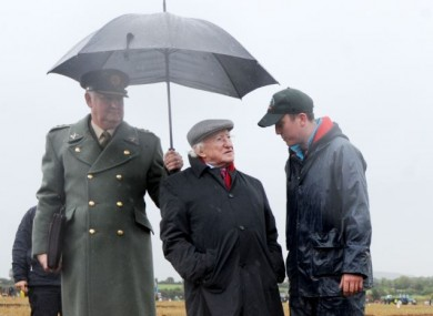 President Higgins at the Ploughing Championships in 2012