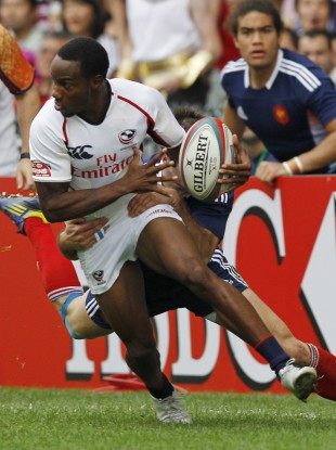 Isles in action for the USA Sevens team.