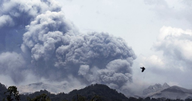 In pictures: The massive volcanic eruption that killed three in Indonesia