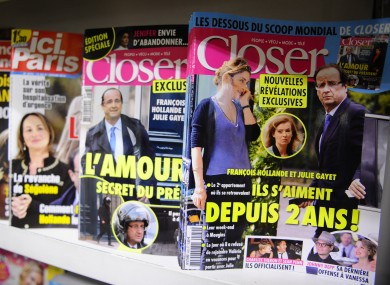 Closer magazine in France which broke the news of the affair between Hollande and Gayet.