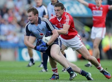 Dublin's Jack McCaffrey and Cork's John O'Rourke.