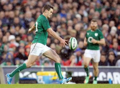 Jonny Sexton kicked the ball superbly against Wales.