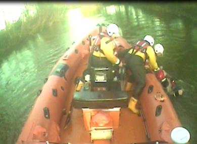Lough Derg RNLI recover kayaker.