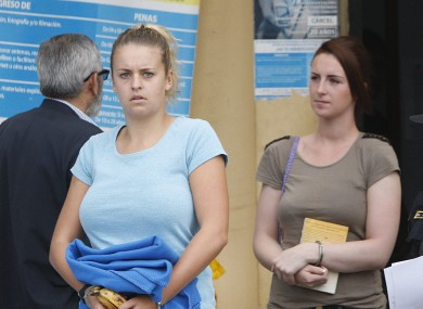 Melissa Reid and Michaella McCollum Connolly.