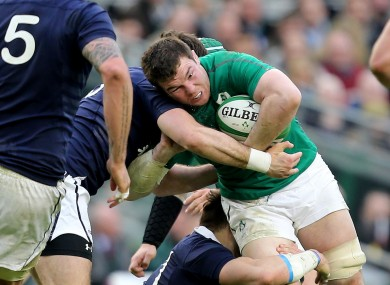 Peter O'Mahony starred in the Irish back row.