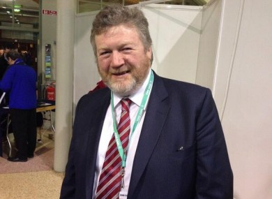 James Reilly arriving at the Fine Gael Ard Fheis in the RDS this evening