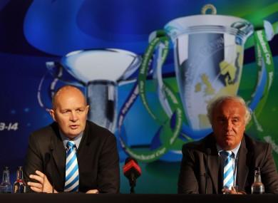 ERC Chief Executive Derek McGrath and Jean-Pierre Lux ERC Independent Chairman (file photo).