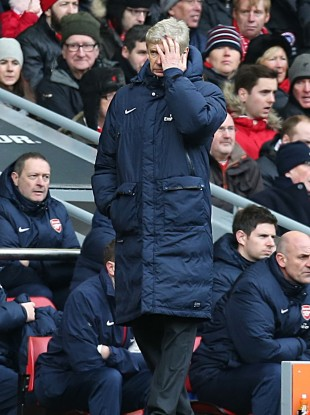 Wenger during Saturday's match.