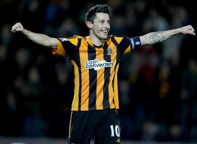 Hull goalscorer Robert Koren.