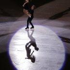 Elena Ilinykh and Nikita Katsalapov of Russia perform during the figure skating exhibition gala at the Iceberg Skating Palace.<span class=