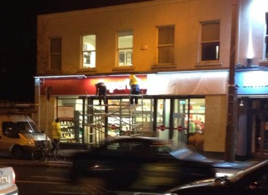 SuperQuinn in Rathgar changes last night.