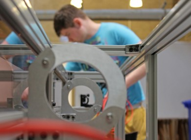 Students building a laser cutter in the University of Limerick
