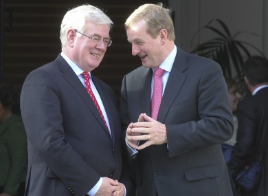 Tánaiste Eamon Gilmore and Taoiseach Enda Kenny (File photo)