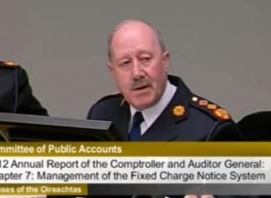 Martin Callinan speaking to the PAC