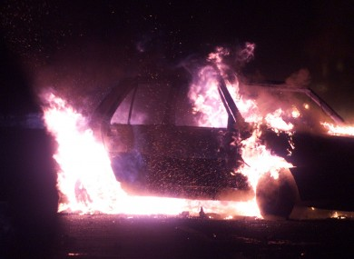 Car on fire in Northern Ireland (File photo)
