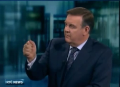 Bryan Dobson on the Six One News during the broadcast.
