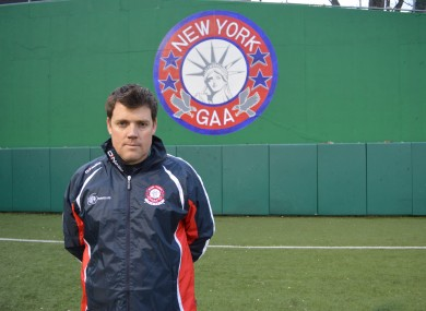 Ian Galvin, the Kerry-born manager of the New York senior football team, pictured recently at Gaelic Park in the Bronx, New York.