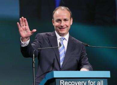 Micheál Martin at the Fianna Fáil Ard Fheis