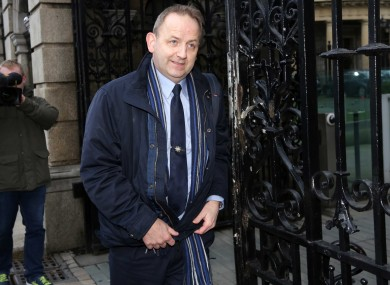 Maurice McCabe arriving at Leinster House to give evidence to the PAC in January.