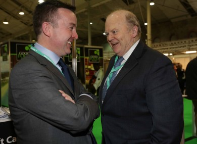 Brian Hayes and Michael Noonan at the Fine Gael Ard Fheis this weekend