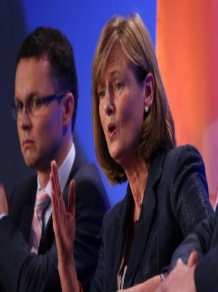 Senator Deirdre Clune on the second day of the Fine Gael National Conference in October 2013.