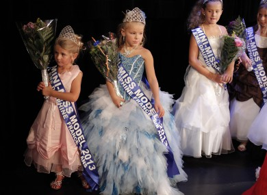 A 'Mini Miss' model beauty contest in Paris last year.