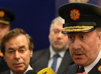 Alan Shatter and the now former Garda Commissioner Martin Callinan.