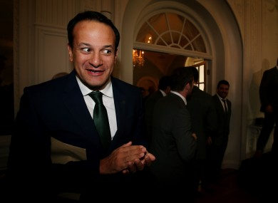Transport Minister Leo Varadkar was excited about something at Farmleigh House this week