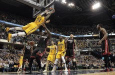 Bosh shoots an airball on the final play as Pacers burn the Heat in a classic