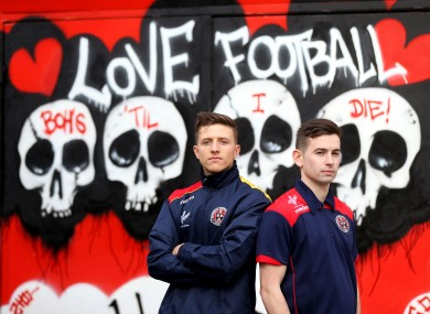 Keith Buckley and Karl Moore of Bohemians.
