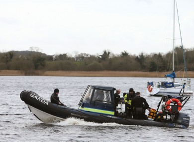 Members of the Garda sub aqua unit join the search of Lough Ree in Co Westmeath