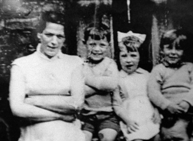 Undated image of Jean McConville with three of her children.