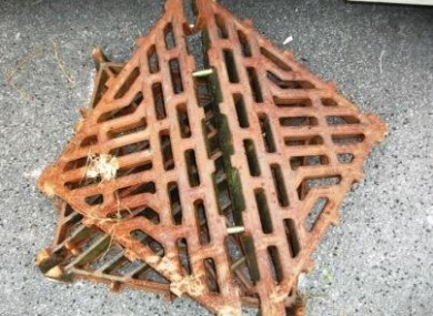 An image of some of the stolen manhole covers that were recovered by gardaí.