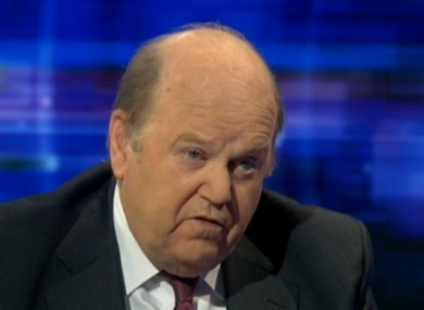 Minister Michael Noonan speaking on RTÉ's Prime Time this evening.