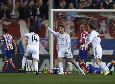 Ronaldo celebrates his goal.