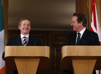Enda Kenny and David Cameron