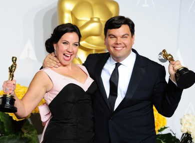 Robert Lopez and his wife Kristen Anderson-Lopez, co-writers of Let It Go from Frozen.