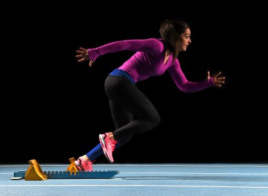 Sinead Goldrick at the launch of Under Armour's Speedform Apollo