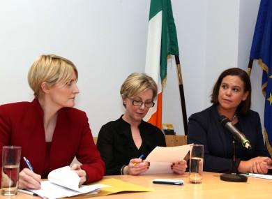 Fianna Fail Senator Averil Power, Fine Gael Regina Doherty TD and Sinn Fein Mary Lou McDonald