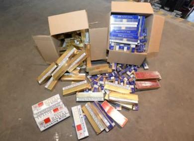 File photo of cigarette seizure