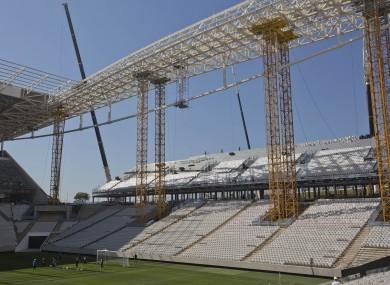 File photo of the Itaquerao stadium in Sao Paulo.