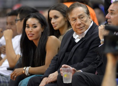 Sterling at a Clippers game last year.