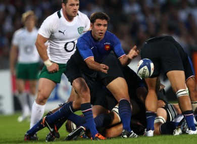 Yachvili whips away a pass against Ireland in 2011.