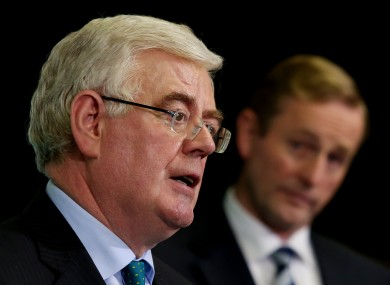 Eamon Gilmore and Enda Kenny (File photo)