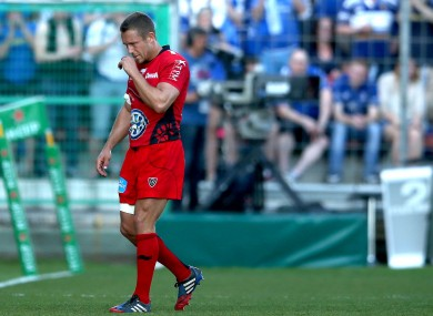 Wilkinson was forced off with a thigh injury against Leinster.