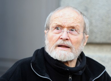 Maurice Agnelet leaving court in Rennes yesterday